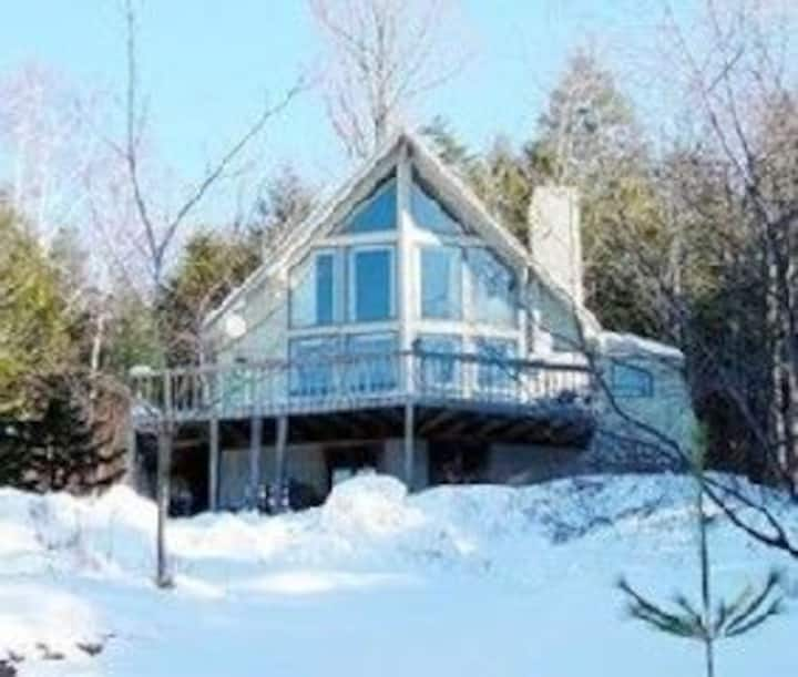 Contemporary Chalet with a Million $ Okemo View