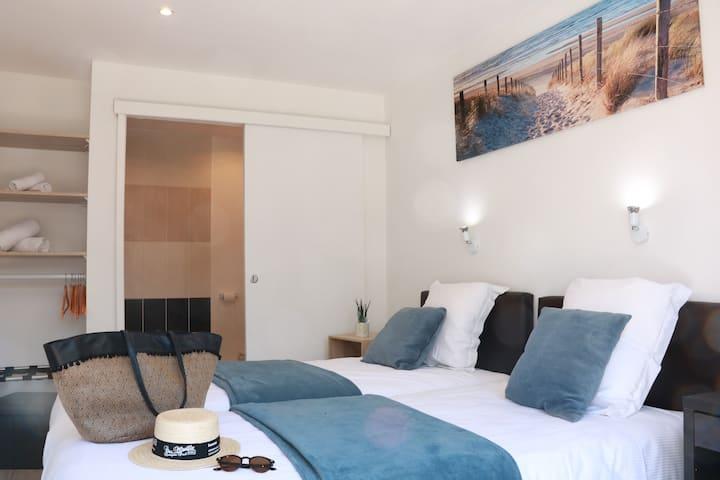 Chambre 2 personnes lits simples Côte d'Opale