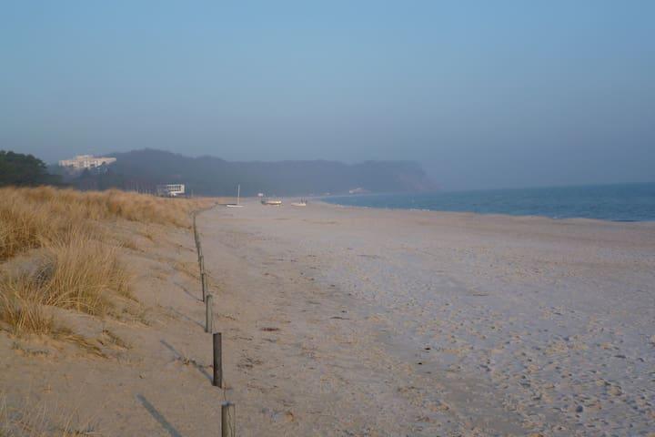 Strand Baabe mit Blick auf die Kreideküste