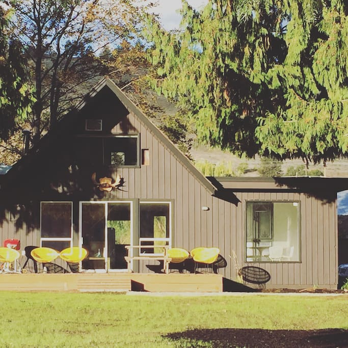 Your private, newly renovated 1968 A-Frame house on a 5-acre organic vineyard in the Okanagan