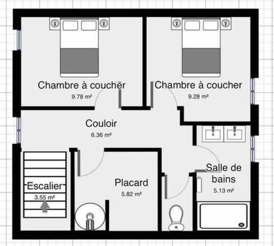 Loue chambres dans  maison en centre ville