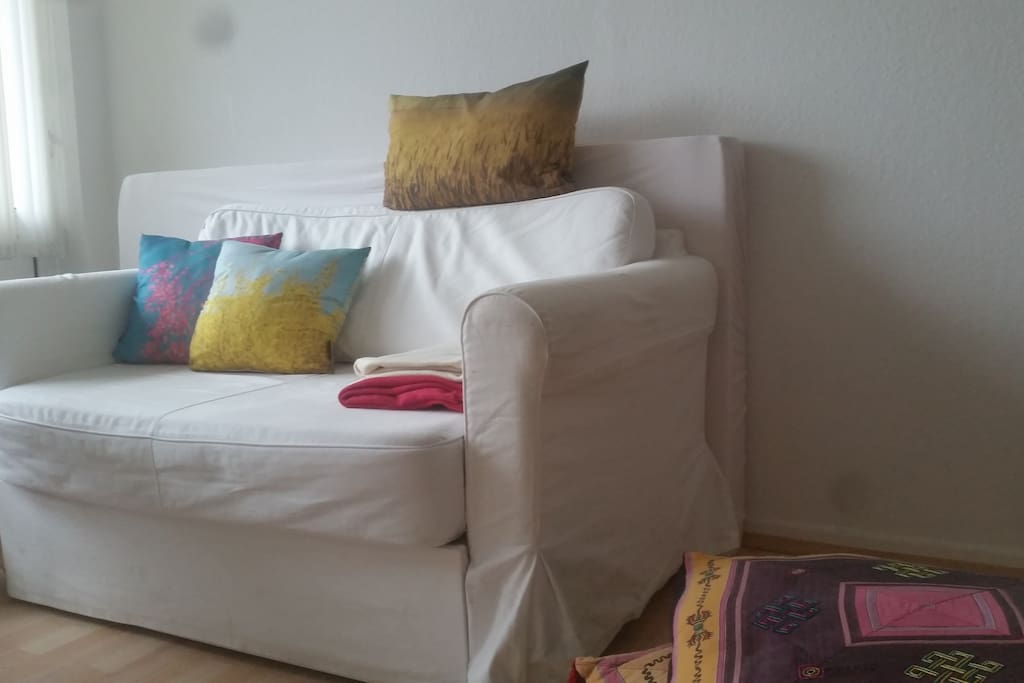 Couch (can be folded into a bed: 120cm x 200cm)