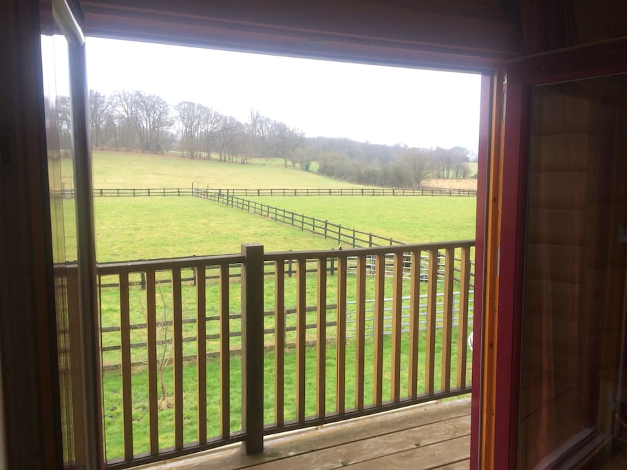 south facing balcony