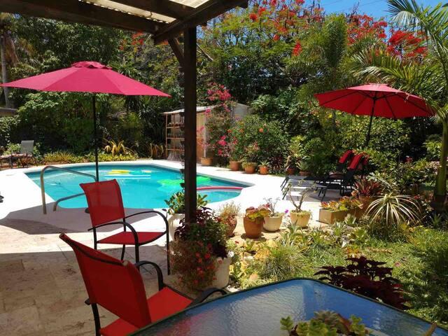 Bali's garden house