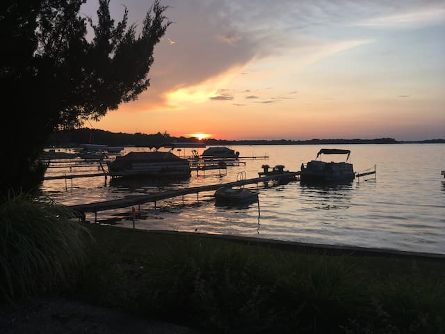 Sunsets & swimming at Gun Lake near Bay Pointe!