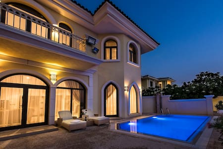 XANADUBAI-BEACH VILLA 5 bed, pool, car+driver+maid