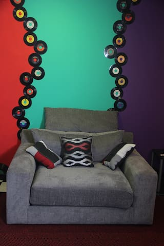 Over sized Comfort! Spin some records and chill!