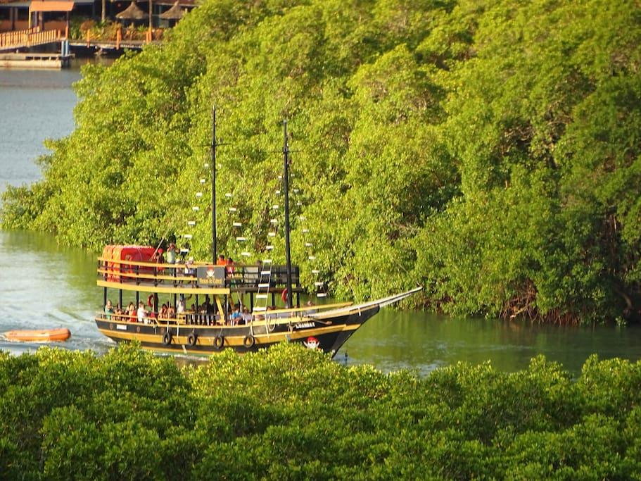 Mirante ai Ai Lindo vista esuberante fiume João de Tiba