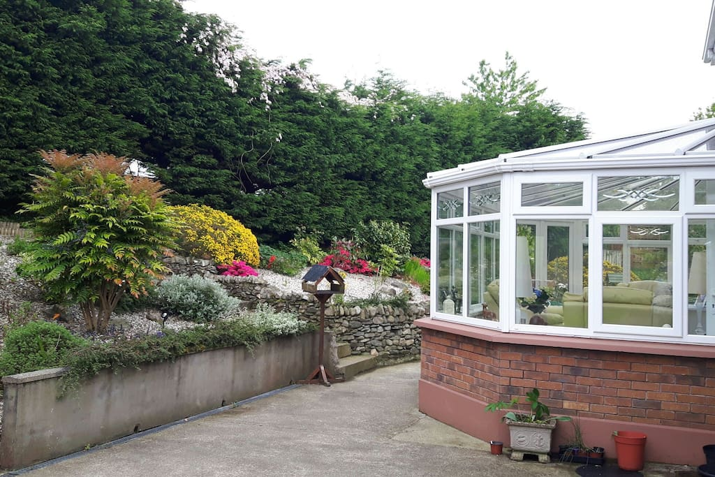Back garden and conservatory