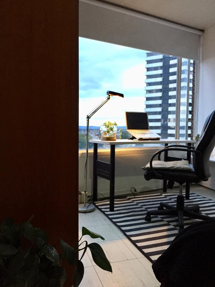 Acogedor apartamento, grandiosa vista y ubicación