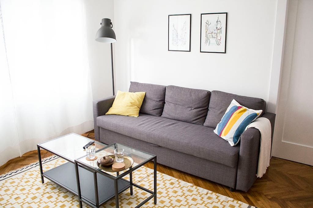 Living room (with sofa bed)