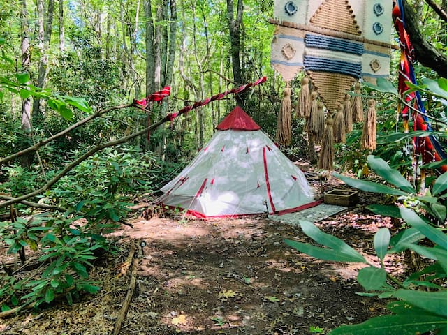 Ruby Tipi with Bathhouse, Artist Owned