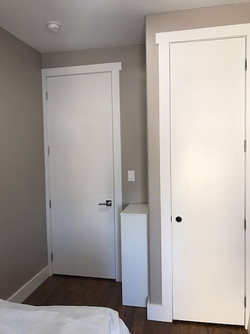 Wardrobe and storage space