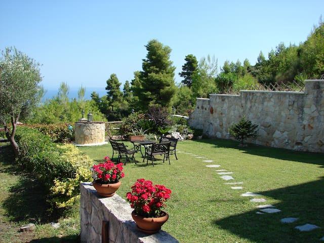 Paliouri two-storey luxury villa, majestic view