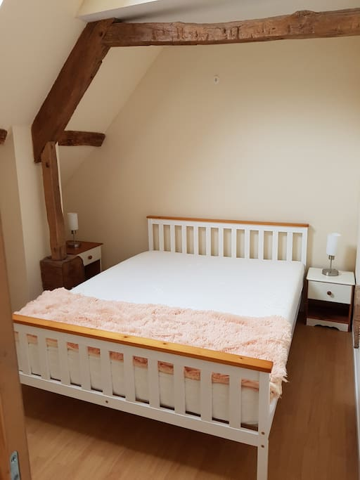 King size bed in one of the two bedrooms. Second bedroom a twin bedroom which can be made into a double.