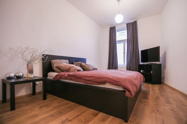 Nice bedroom, 5 min. city centre - Praha - Apartamento