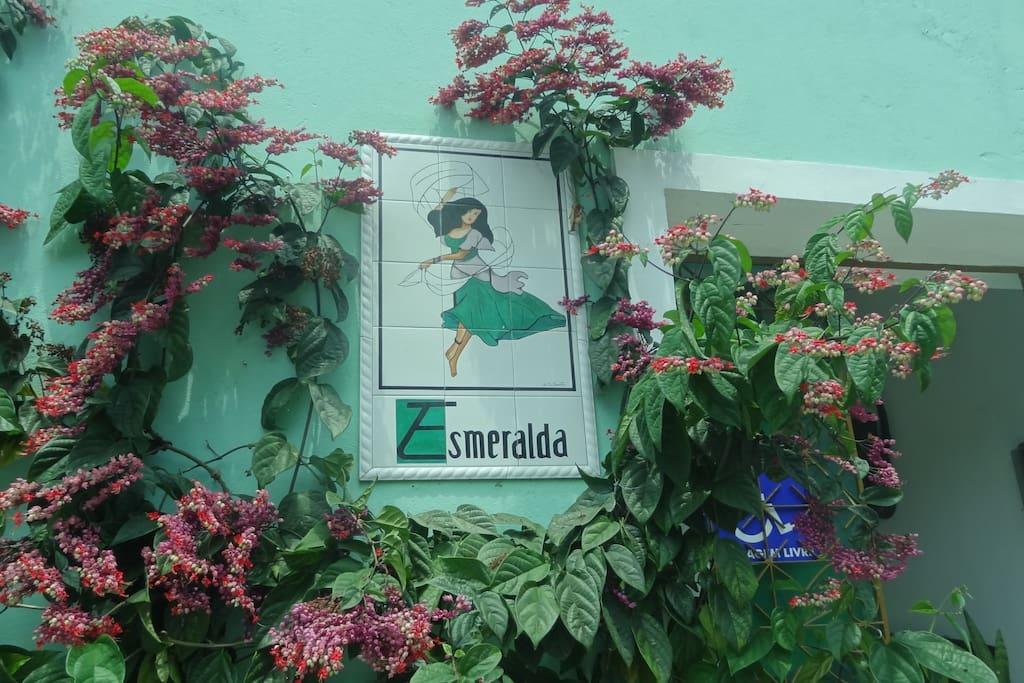 Entrée de la Pousada Esmeralda