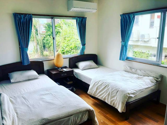 Ocean View Twin Room☆Guest House Life is a Journey