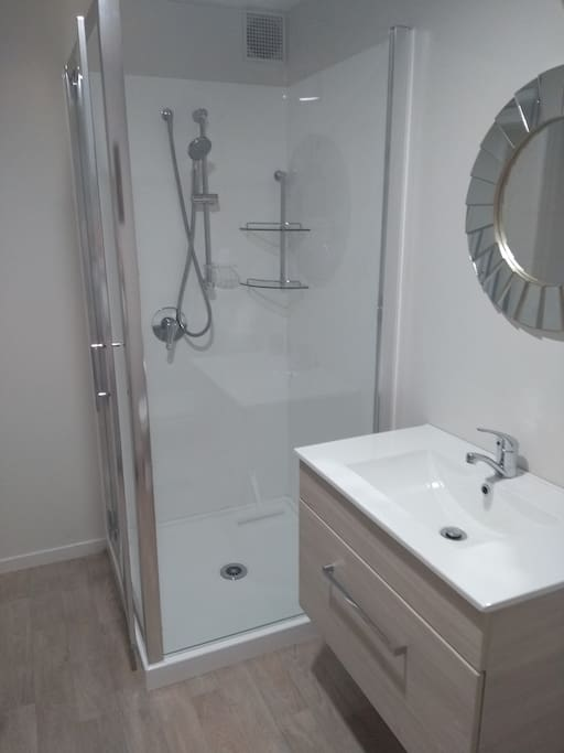 Brand new shower and vanity unit
