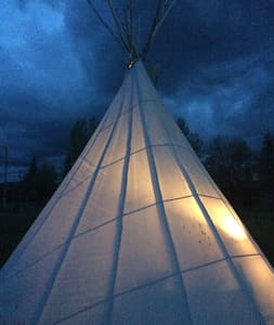 Tipi: Teepee: Lynne St Lair 4 the Adventure - Gallatin Gateway