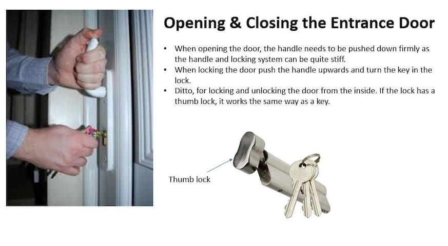 Locking & Unlocking the door