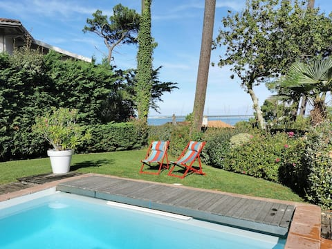Villa sur la dune, superbe vue et piscine chauffée