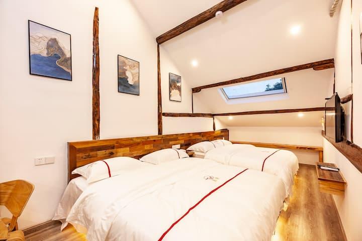 西塘景区内 带阳台2 居室整租复式到浴缸