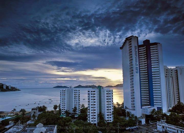 Precioso apartamento a pie de playa y vista al mar
