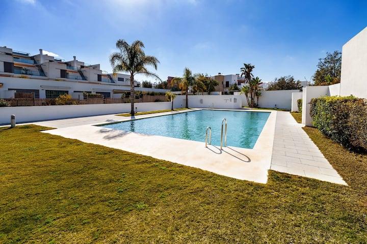 Modernes Studio-Apartment in Strandnähe mit Klimaanlage und WLAN