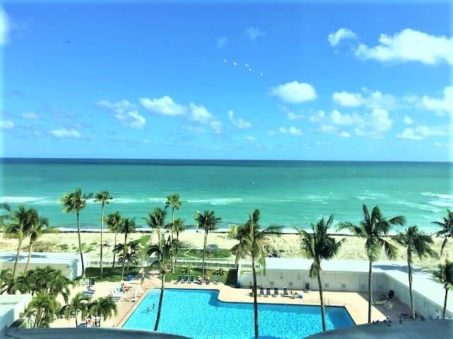 Ocean View 90 Kitchen Free Parking Wi-Fi Huge Pool