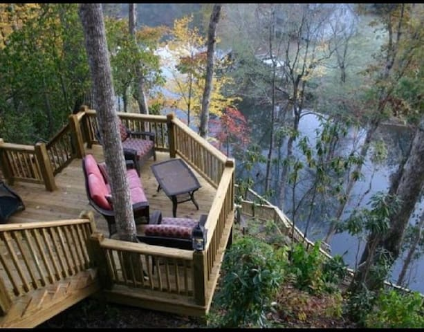 Tranquility At River's Bend - Ellijay - Blockhütte