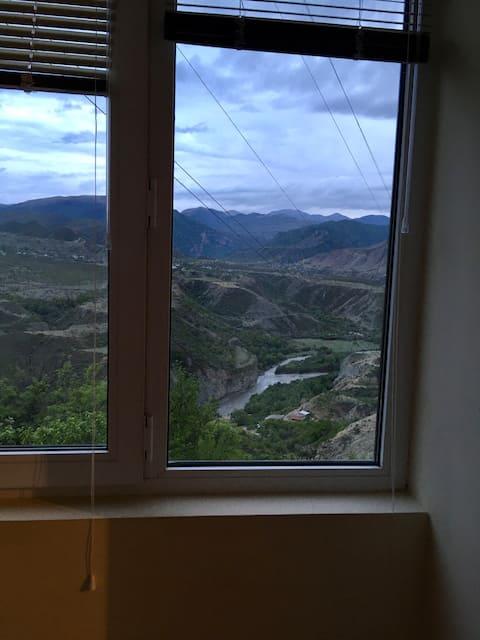 Гостевой дом с видом на горы и речку