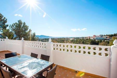 Flott enebolig med leilighet, nydelig utsikt - La Nucia