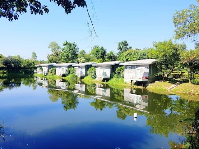 清迈水上乐园 皇家花园 夜间动物园Lake View Villa湖景度假套房 含早餐 免费接机