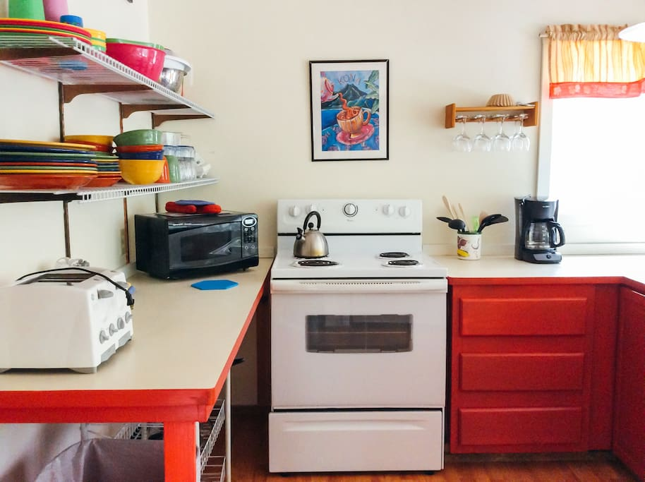 Kitchen comes fully stocked with everything you need to get creative.