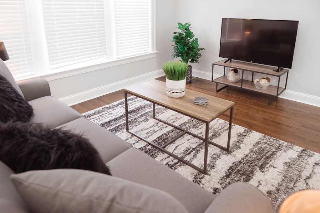 "Living Room, Coffee Table, 43"" LED TV"