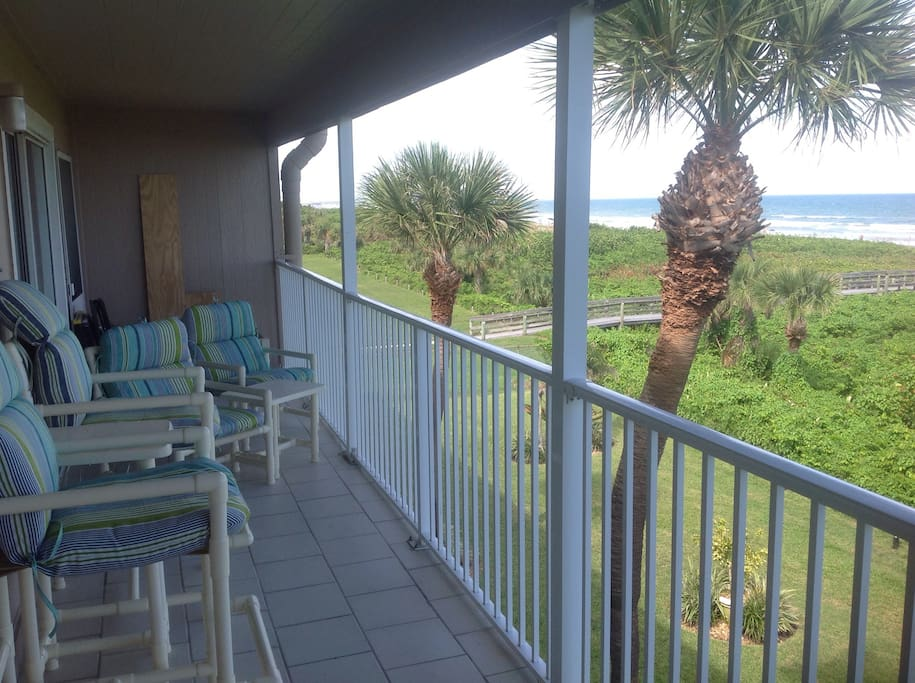 Large balcony for entertaining or relaxing.