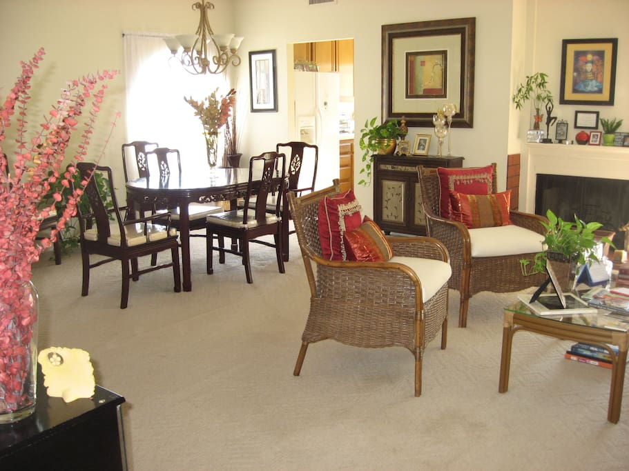 Open area of living and dining rooms.