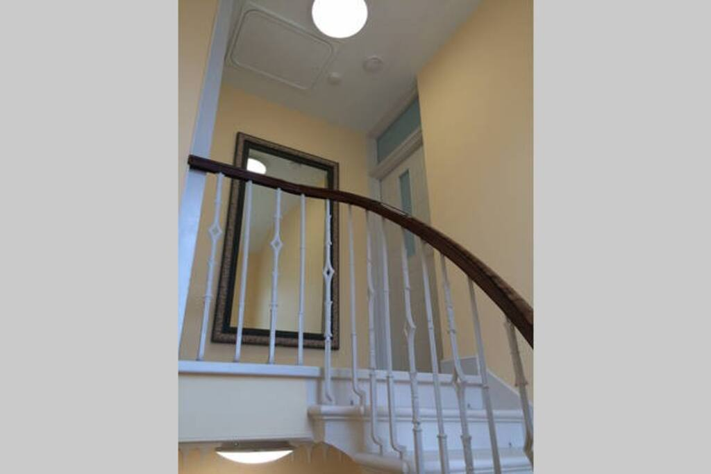 Top flat within this private stair