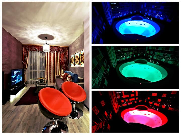 Center of Minsk. New design apartment with Jacuzzi