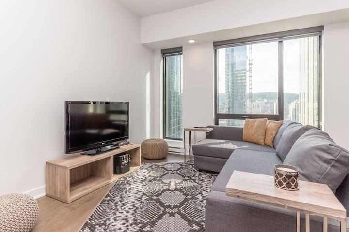 Living room / convertible sofa