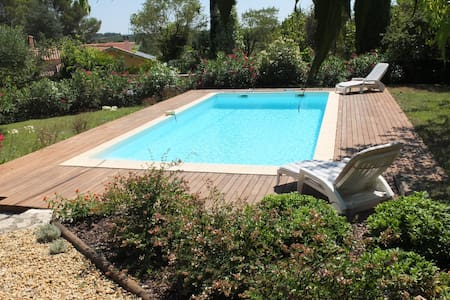 Mas avec piscine privative, grand jardin, au calme - Montferrier-sur-Lez