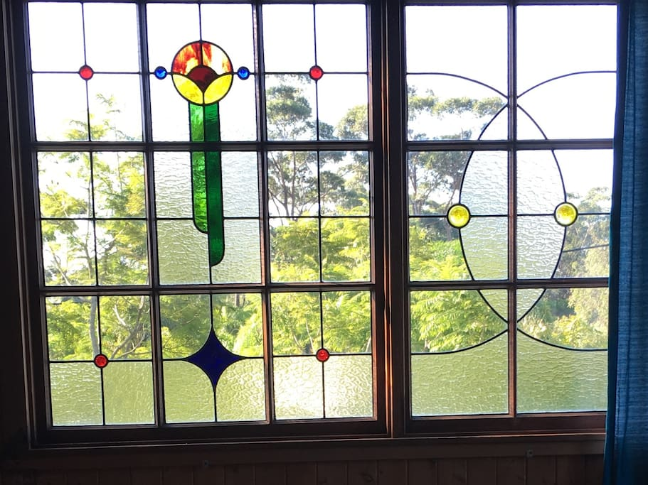 Beautiful Stained glass windows by local artist