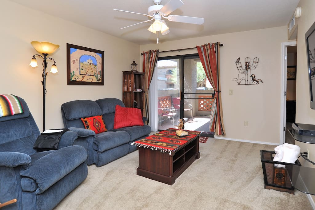Southwest design that is cozy, spacious and comfortable.