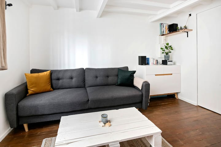 Charming 1 bd flat near Buttes Chaumont in Paris