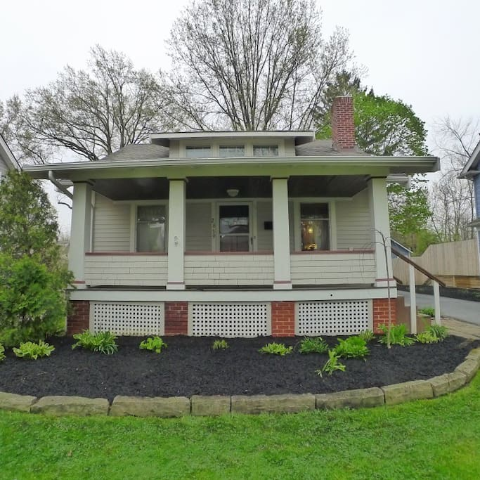 Adorable front porch Colonial with a huge front porch to sit outside on warm summer evenings! Also a one car detached garage and a long driveway to park cars