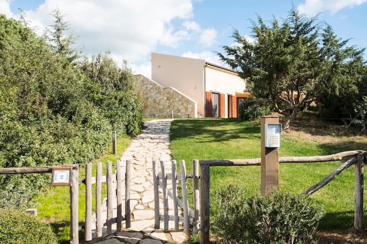 Villa e giardino privato sul golf.