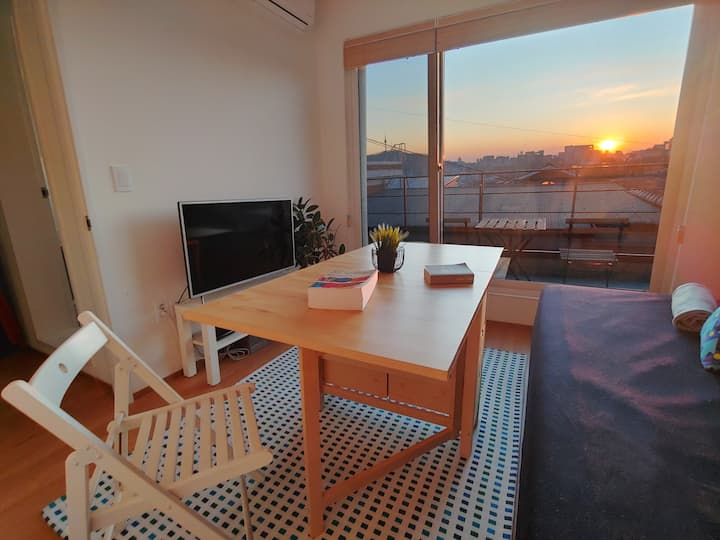 ※Naksan Balcony※ 1BR w/ private balcony & rooftop