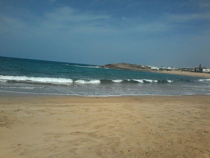 Appt de plein pied face à la mer