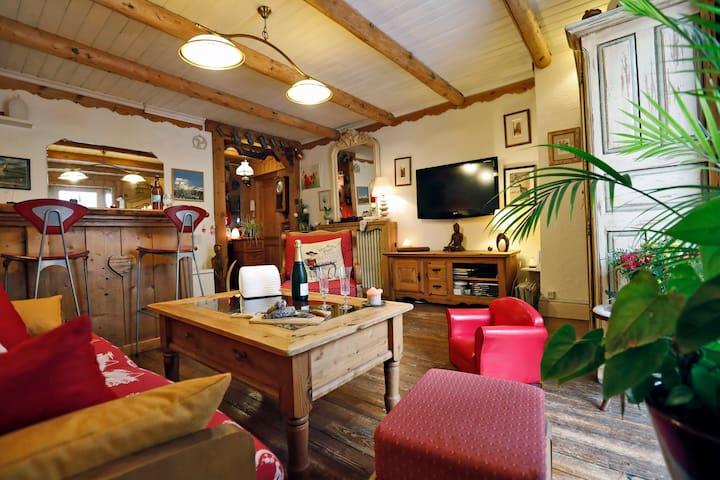 Appartement 55m2 de caractère au centre du village